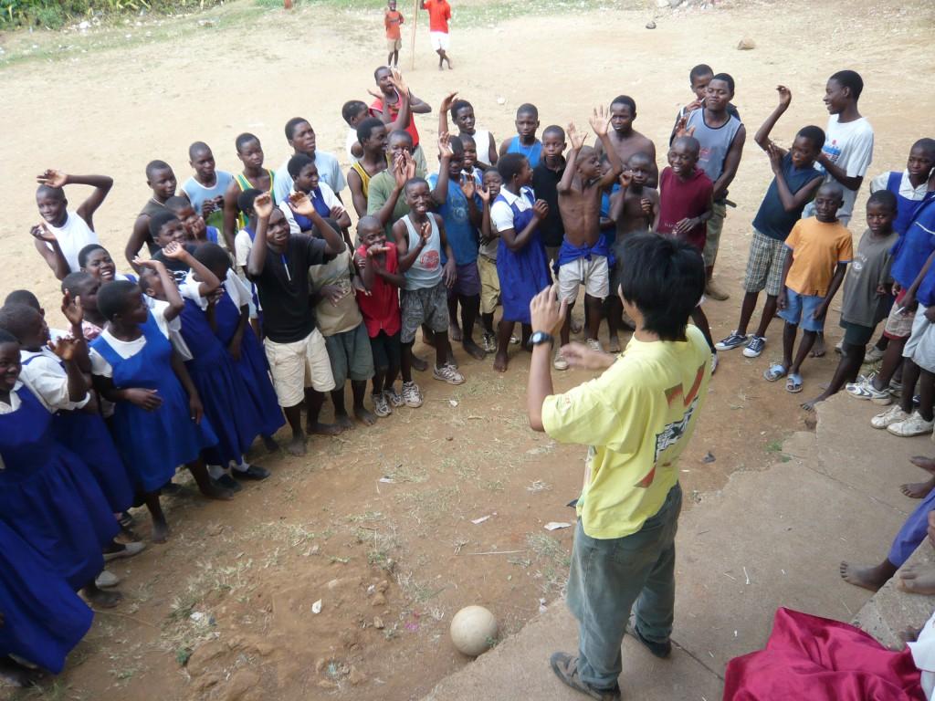 マラウイで体育の先生をやっていた時